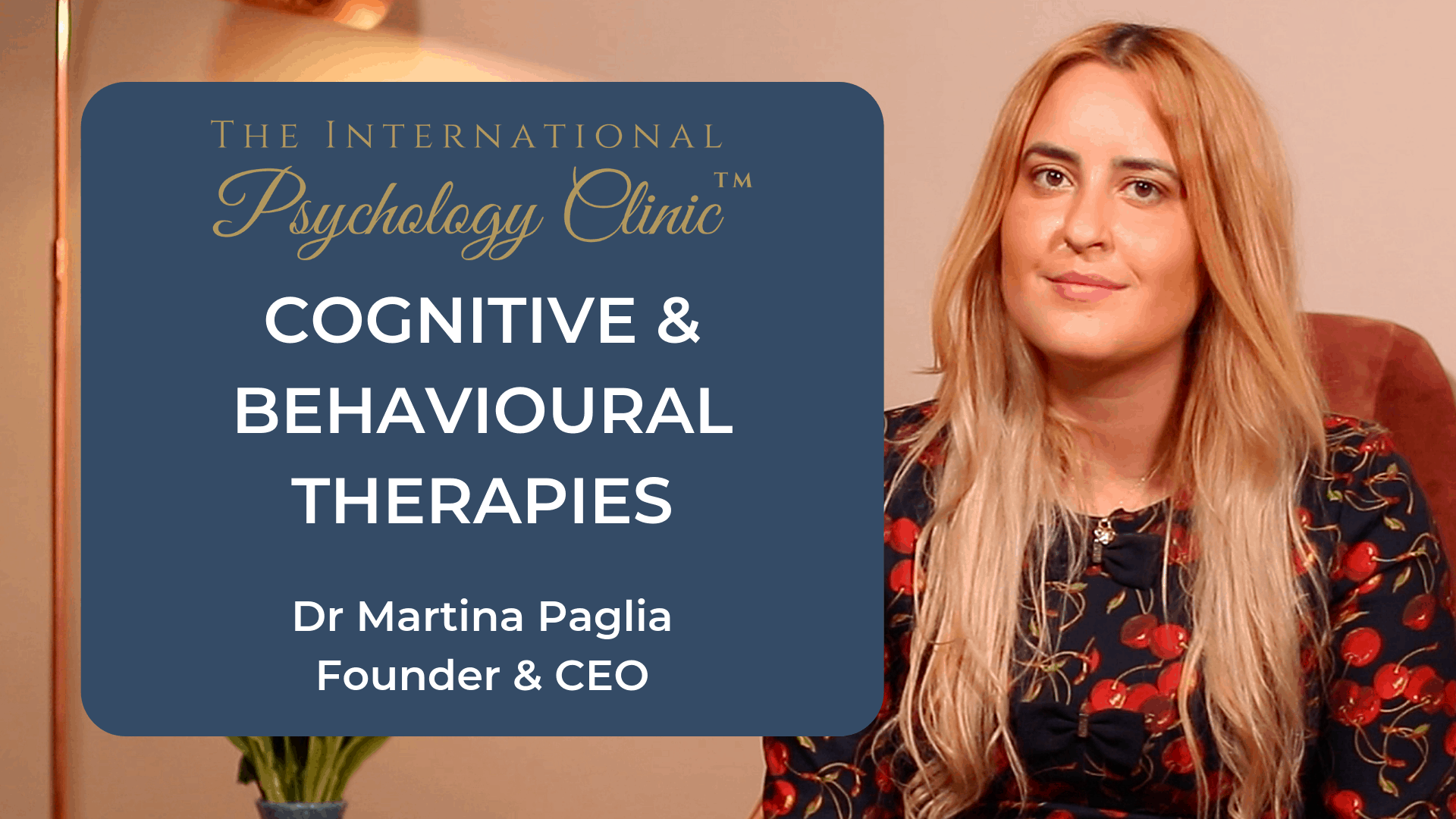 cognitive and behavioural therapies